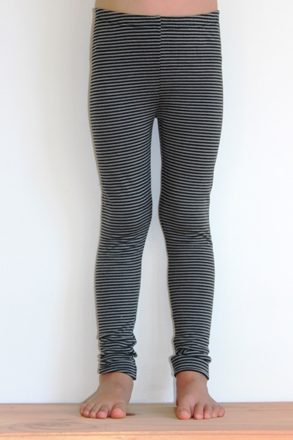 Black & Grey stripe Leggings