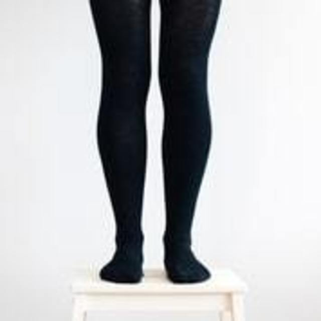Ladies tights - Black flat knit