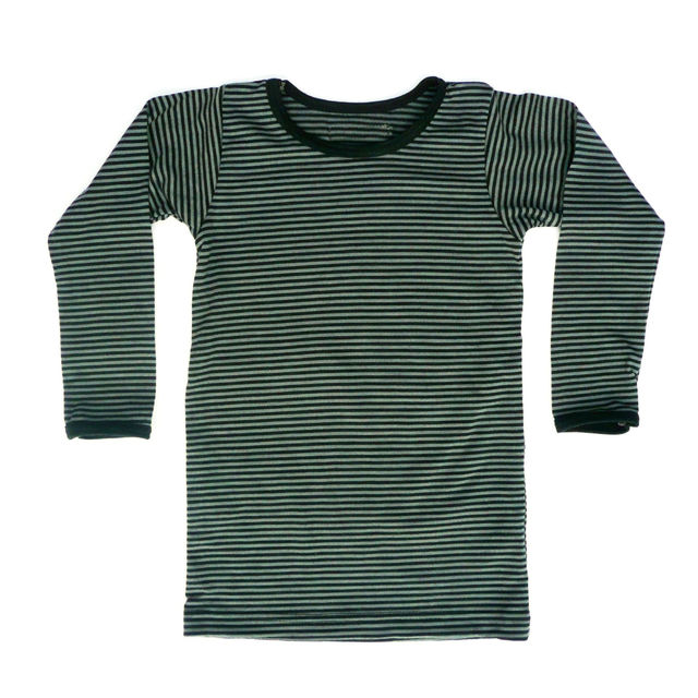 Black & Grey Stripe Long Sleeve Tee
