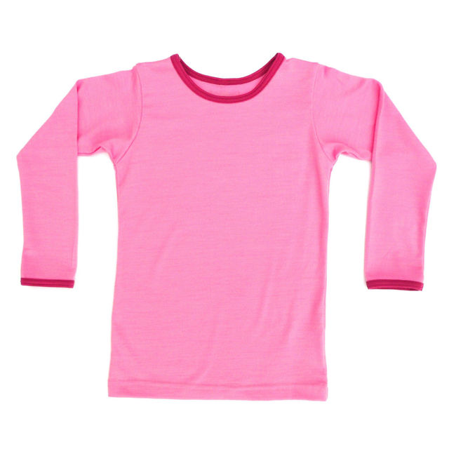 Pretty in Pink with Rosehip Trim Long Sleeve Tee
